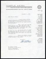 Personal correspondence, 1949-1969