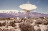 130-foot radio telescope at Owens Valley Radio Observatory