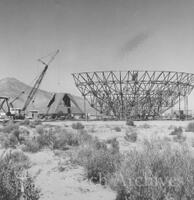 130-foot radio telescope dish under contruction