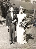 Glenn Millikan and Clare Mallory wedding, August 3, 1938