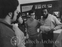 Dick Gregory with students