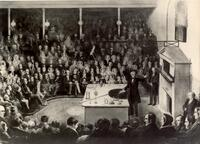 Professor Faraday Lecturing at Royal Institution