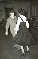 Richard Feynman dancing with Trudy Egyes at Cornell