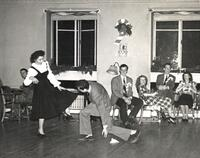 Richard Feynman dancing with Trudy Eyges at Cornell