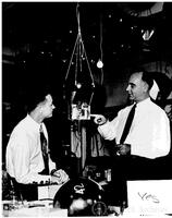 Anderson and Neher with cosmic ray apparatus