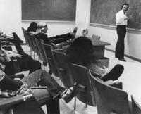 Richard Feynman teaching Physics X.