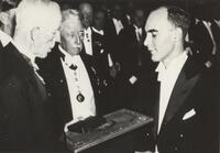 Carl D. Anderson receiving Nobel Prize