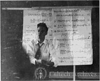 Young Richard Feynman lecturing