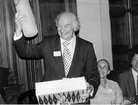 Linus Pauling at his 75th birthday party