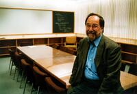 David Baltimore in classroom