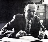 Allan Sandage at his desk