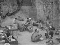 Breakfast scene in the Grand Canyon, Carnegie Institution expedition