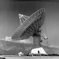 130-foot radio telescope at Owens Valley
