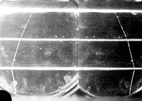 Cloud chamber photo of possibly a negative proton