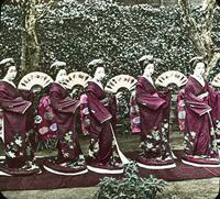 Japanese women in traditional clothing