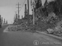 Damage from the Long Beach earthquake--landslides in Signal Hill