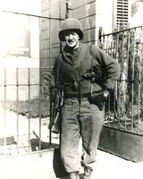 Gerald J. Wasserburg in US Army uniform in Leipzig, Germany during World War II