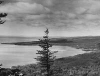 Lake Superior coast at Grand Portage Bay looking W-SW from Mt. Josephine