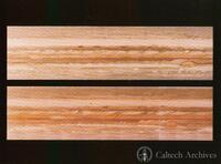 Cylindrical projections of Jupiter made from a single ten-hour rotation