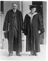 Richard Chace Tolman and Robert Millikan in academic attire