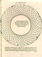 Kepler - preliminary diagram relating to the orbits of Saturn and Jupiter, from Mysterium cosmographicum