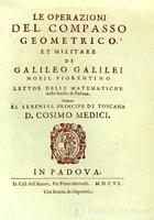 Galileo, title page from Le Operazione del Compasso Geometrico et Militare (The Operation of the Geometric and Military Compass), Padua, 1606