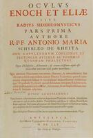 tile page: Oculus Enoch et Eliae, sive Radius Sideromysticus pars Prima