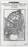 The great equatorial armillary instrument with one complete circle and one semicircle, from Tycho Brahe, Astronomiae Instauratae Mechanica