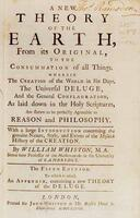 William Whiston - title page to A New Theory of the Earth, 5th edition (London, 1737)