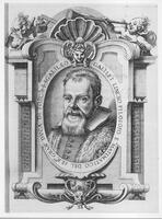 Portrait of Galileo, from Istoria e Dimostrazioni intorno alle Macchie Solari (History and Demonstration concerning Sunspots), Rome, 1613