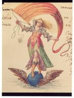 Hand-painted illustration from the autograph album of Johann Jakob Frisch