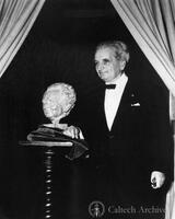 Theodore von Karman with his bust