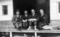 Theodore von Karman with Japanese men