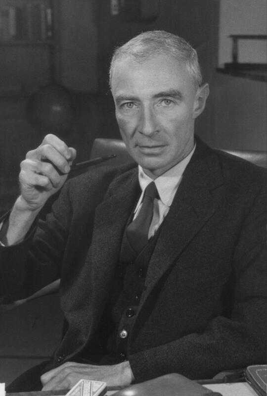 J Robert Oppenheimer Seated With Pipe Image Archive