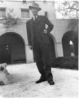 J. Robert Oppenheimer on the Caltech campus