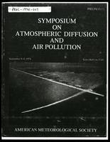 Diffusion and turbulence aloft over complex terrain, Symposium on atmospheric diffusion and air pollution, American Meteorological Society, 1974 September 9 - 13