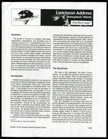 Atmospheric talents, Bulletin of the American Meteorological Society Vol. 76, No. 6, 1995 June