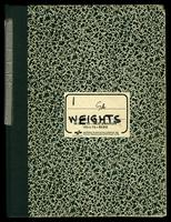 Gossamer Albatross: data book 1, weights, 1978-1979